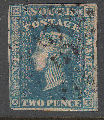 New South Wales - 2d Diadem Imperf - numeral Cancel 55