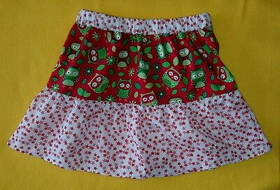 New Girls Christmas Owls & Stars Frilly Skirt. Age 3-5. Unique Quirky. Original