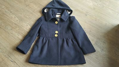 Next Girls Navy Coat age 4-5 yrs