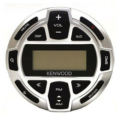 Kenwood Silver and Black LCD Boat Stereo Remote Control Unit KCA-RC55MR