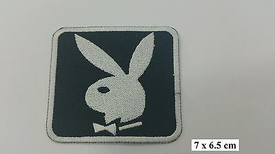 Vintage Playboy Bunny Logo EMBROIDERED Iron on/Sew on PATCH/Badge