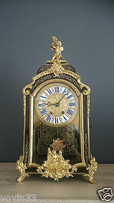 Antique French Gilt Bronze Boulle Clock Lay Fnt, Pge  Jouffroy 29