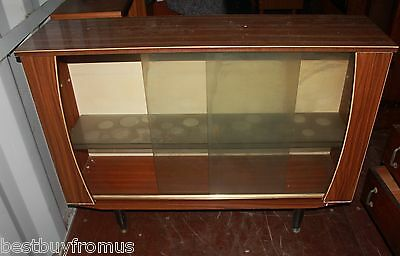 Vintage Glass Display Cabinet  / Restoration  Upcycle Project