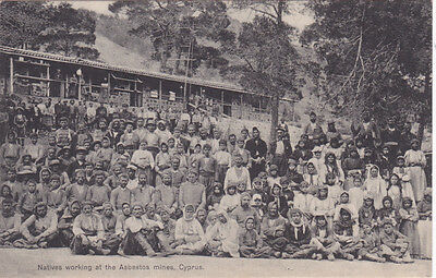 Cyprus Postcard Natives Working At The Asbestos Mines No 1765 Very Rare