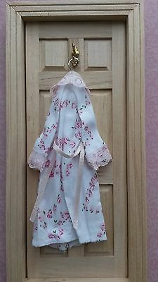 1:12th scale~LADIES DRESSING GOWN HANGING DISPLAY~ hand made by suey