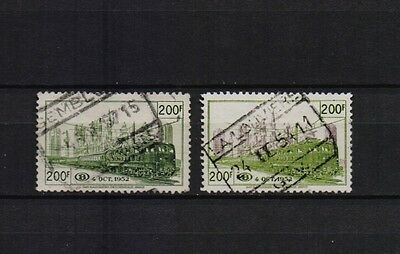 Belgium 1953 Railway Stamps Brussels Nord-Midi Junction Fine Used Tr 334/335