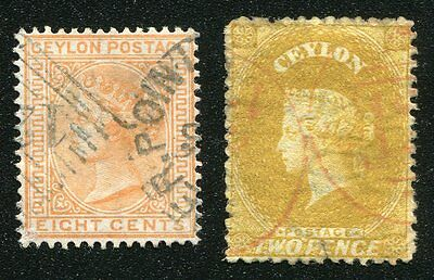 Aden: Ceylon stamps used in Aden (numeral 124)