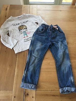 Stunning Girls Next Outfit Age 3-4 Boy Fit Jeans & Super Hero Top
