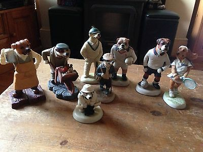 Robert Harrop  Country Companions Doggie People Collection Of Eight !
