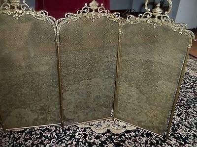 Art Nouveau 4 panel fire screen, antique and gorgeous, screens have diamonds