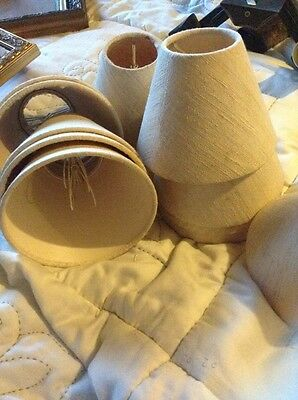 small 2 X  cream lampshades 12 available to recover only 2 left