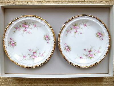Pair of Paragon Victoriana Rose Empire sweet dishes - new