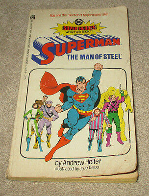 Super Heroes Which Way Book #1 Superman The Man of Steel 1983 (CS58)