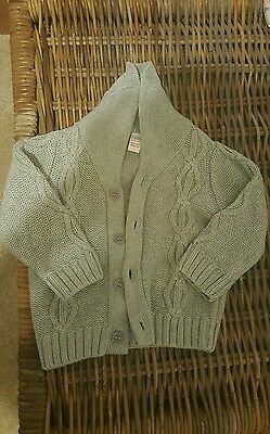 next 9-12 month grey knit wooly cardigan