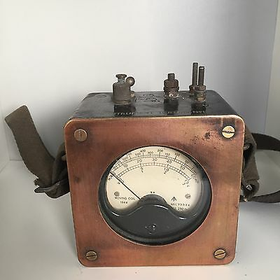 Vintage  Antique British Bakelite 1944 Ohm Meter WW2 .