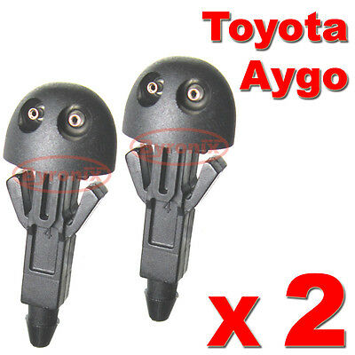 Toyota Aygo Front Windscreen Washer Jets Nozzle Water X2