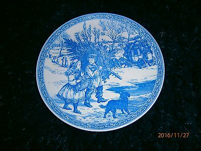 Spode Blue Room Collection Christmas Plate Number 1
