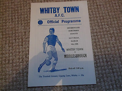 WHITBY TOWN v MIDDLESBROUGH NORTH RIDING SENIOR CUP 1988