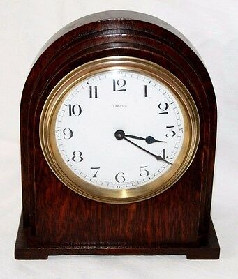 A VINTAGE FRENCH DECO c1930's BAYARD D & B OAK MANTEL CLOCK, FOR RESTORATION