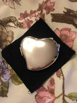 Sterling Silver Heart Pocket Mirror