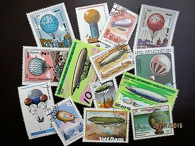 Stamps Thematics Selection Of Hot Air Balloons & Experimental Balloon Stamps