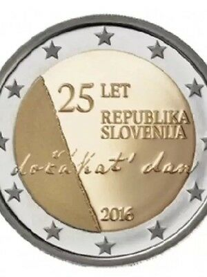 Slovenia 2 Euro Commemorative Coin 2016 Independence New Bunc From Roll
