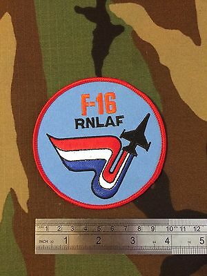 F-16 Fighting Falcon Royal Netherlands Airforce Pilots Patch, RNLAF