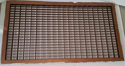 Huge Vintage 1920's Steel Heating Return Grate Rectangular Design 32 X 16 VGC