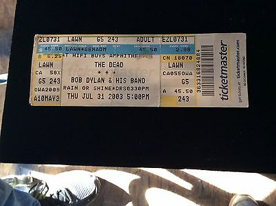 The Dead and bob Dylan concerts July 31 2003.ticket stub