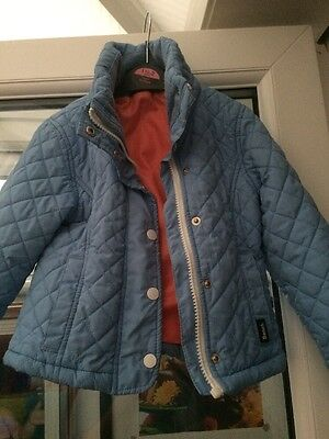 Pale Blue Girls Bench Padded Coat Age 3-4 Years