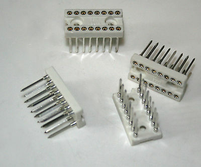 IC sockets dual in line for 16 pin IC's 10 pcs.