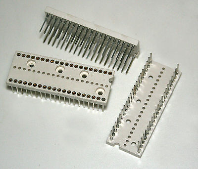 IC sockets dual in line for 40 pin IC's 4 pcs.