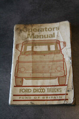 Ford D1000 operators manual lorry truck