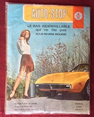 Vintage French Stockings Rare Auto Stop Made In Italy 1960's-1970's
