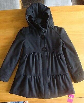 BNWT M&S New Girls wool Mix Coat with hood  9 - 10 yrs Ideal for school