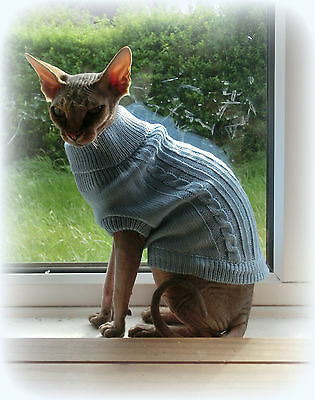kitten Winter sweater coat top for a Sphynx cat - cat clothes Katzenbekleidung