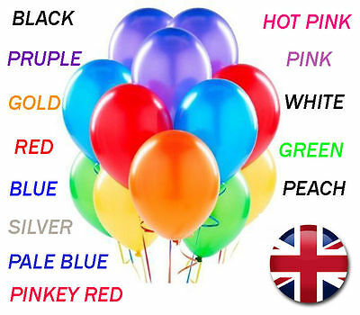 20 X Latex PLAIN BALOONS BALLONS helium BALLOONS Quality Party Birthday Weddings