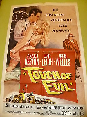 Touch Of Evil 1958  Original  Us One Sheet Poster.27 X 41 Inches