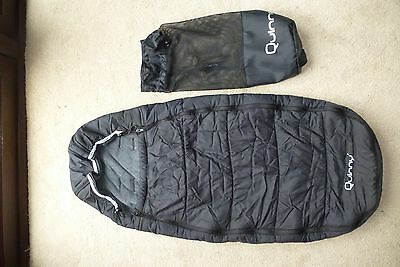 Quinny Foot Muff / Cosytoes in Black with Bag