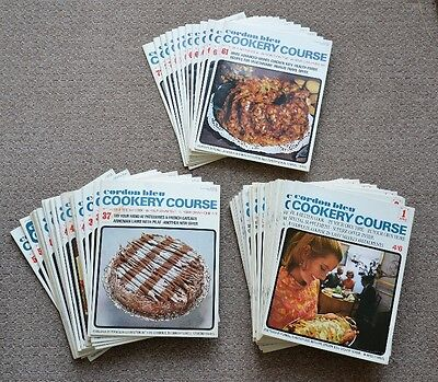 Vintage Cordon Bleu Cookery Course Weekly Partwork Set 1-72 from 1968-1970