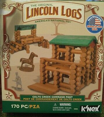 The Original Lincoln Logs: Colts Creek Command Post - 170 PC - K'Nex - BRAND NEW