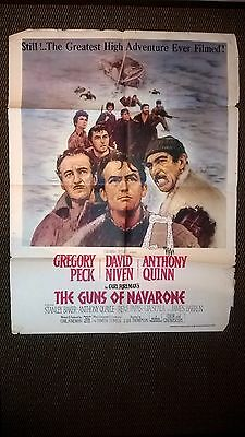 The Guns Of Navarone 1961 , Original Asian Quad Cinema Poster .
