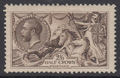 SG 400 2/6d Sepia Brown 1913 Waterlow Seahorse very fine & fresh lightly mounted