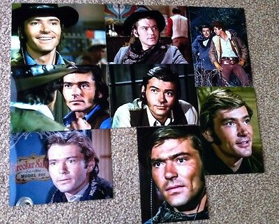 """Set 9- 8 """"5 By 7""""  Pete Duel (Alias Smith and Jones ) Photographs."""