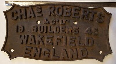 Chas´s Roberts 1946, Coach Builders Plate, Wakefield England