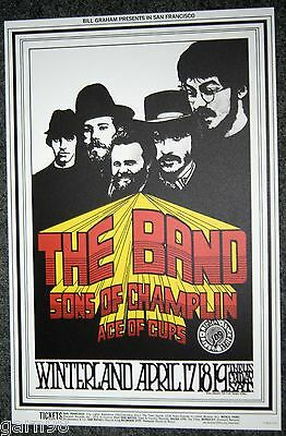 THE BAND First Solo Gig  BG Fillmore Concert  Poster  1969 Robertson Helm Danko
