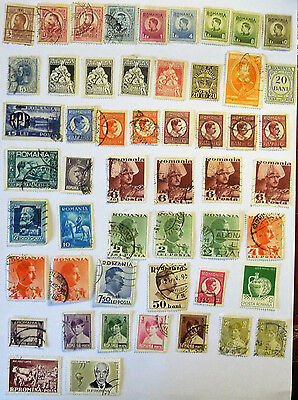Romania Collection of old / early Stamps used & unused lot698