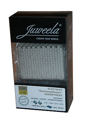 NEU! Juweela® Flexyway Knochenpflaster grau 8 Segmente Assortment 1:45/48  24144