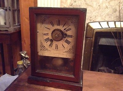 Lovely Antique Wooden Clock
