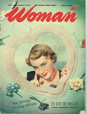 Vintage Woman Magazine February 1951  - inc knitting patterns - see pictures